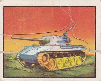 1950 Topps Freedom's War Short Printed Die-Cut Tank Card #101
