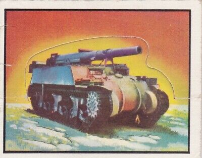 1950 Topps Freedom's War Short Printed Die-Cut Tank Card #102