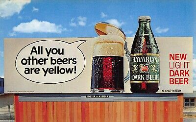 """Portland OR Bavarian Dark Beer """"All you other beers are yellow!"""" Postcard"""