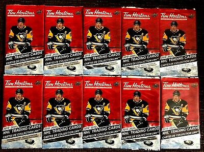 2019-20 Tim Hortons Hockey Cards 10 Sealed New Unopened Packs Relics? Mcdavid ?