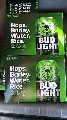 Bud Light Area 51 Green Alien 2x Cans (Two) Very Limited Edition