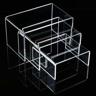 Display Riser 6 Pack Acrylic Tiered Display Stand Perspex Clear Shelves