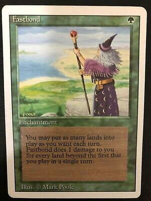 Fastbond Near Mint Revised Edition Magic The Gathering Card, Never played With