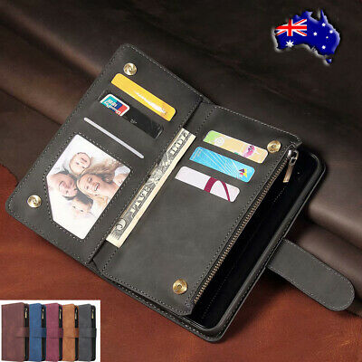 Fr iPhone 11 Pro Xs Max 6s Xr 7 8 Zipper Leather Case Magnetic Flip Wallet Cover