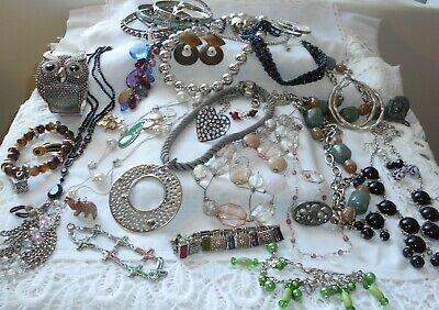Bulk Lot Vintage-Now Jewellery Collection Designer Necklaces, Earrings,Brooches