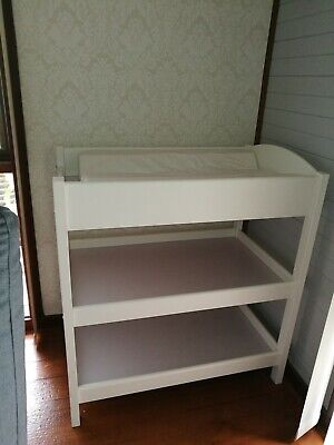 King Parrot (Boori) baby change table quality white timber