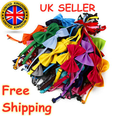 50 Pcs Wholesale Pet Dog Puppy Necktie Bow Tie Ties Collar Grooming Out Lot UK