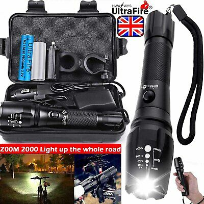 Rechargeable 350000LM Flashlight Zoom T6 LED Bike Light Torch Headlamp Headlight
