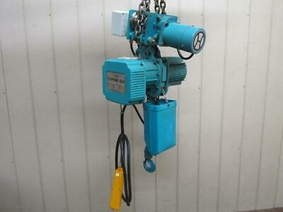 Hyun Dai HCT-H100 Electric Chain Hoist w/Power Trolley 1 Ton 2000 Lb 3 PH
