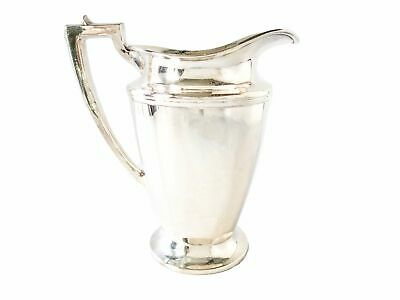 Vintage Silver Plate Water Pitcher By Homan Mfg Circa 1930's