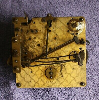 Mantle or bracket clock movement. Maker, Musterschutz