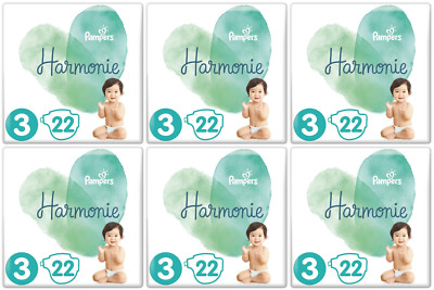 Lot de 132 couches Pampers Harmonie Taille 3 (6-10 kg)