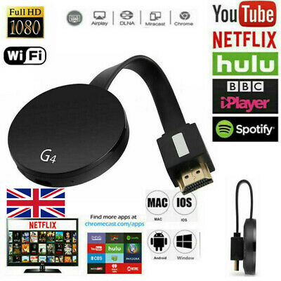 For Chromecast Google Media Streamer 4th Generation HD Digital HDMI Video Q0M1K