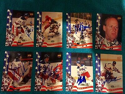 Signed 1995 Signature Rookies Miracle on Ice 1980 USA hockey lot of 8