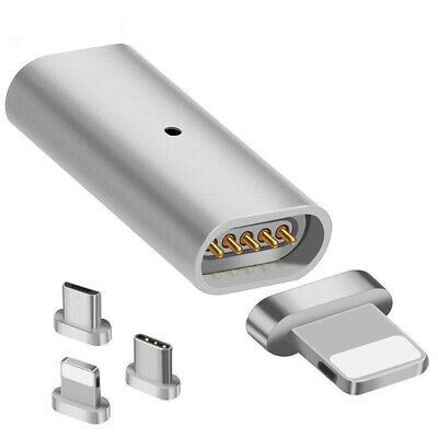 Magnetic Micro USB Adapter Charger Transfer Connector ForAndroid iPhone TypeC TD