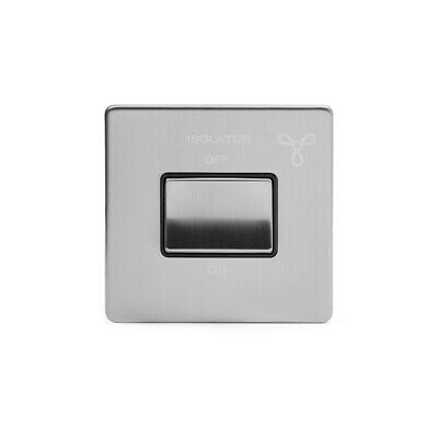 Deco 10A 1G 'Ingot' 3P Fan Isol Switch Black Victorian Black Nickel