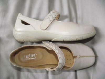 Hotter Shake Exf Comfort Concept Mary Jane Shoe Uk 6.5 Exf Extra Wide Cream