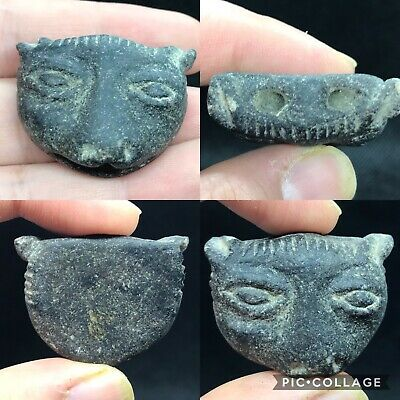 wonderful ancient Egyptian cat goddes  glass bead