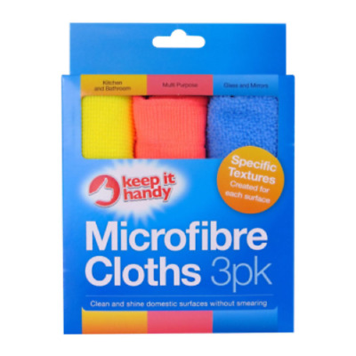 3 x MICROFIBRE CLOTHS PACK Soft Edgeless Flawless Multipurpose Cleaning Cloth