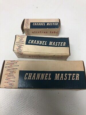 Lot Of 3 Channel Master Tubes Nos