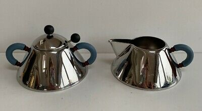 Alessi Italy Milk Jug & Sugar Bowl With Lid & Spoon