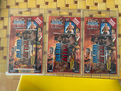 3 booster de 6 cartes slam attax 2008 neuf sous blister