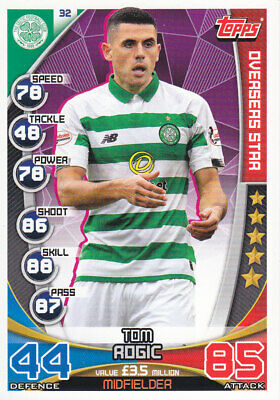 TOPPS MATCH ATTAX SPFL 2019-20 - Tom Rogic - Celtic - # 32 - OVERSEAS STAR