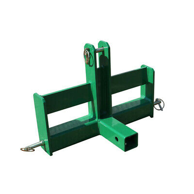 Tractor Drawbar with Suitcase Weight Brackets and Receiver Fits Cat 0 3-Pt Green