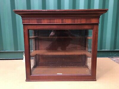 Small Victorian Display Cabinet Restoration Project Needs New Glass In Sides