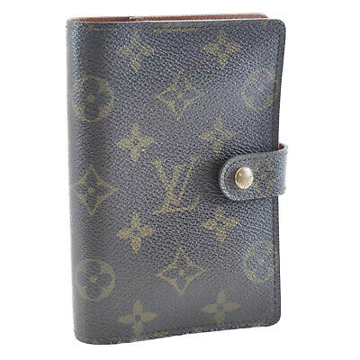 LOUIS VUITTON Monogram Agenda PM Day Planner Cover R20005 LV Auth mt012