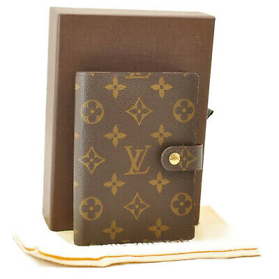 LOUIS VUITTON Monogram Agenda PM Day Planner Cover R20005 LV Auth mt007