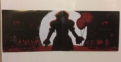 Official Odeon IT  2019 new movie 2 A4 POSTER SET COMPLETE halloween Pennywise