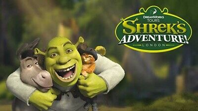 2 Adult Tickets for Shreks Adventure Open Date up to 07/10 * HALF PRICE *
