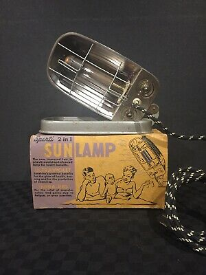 Antique Spenti 2 in 1 Sun Lamp in Original Box with Instructions