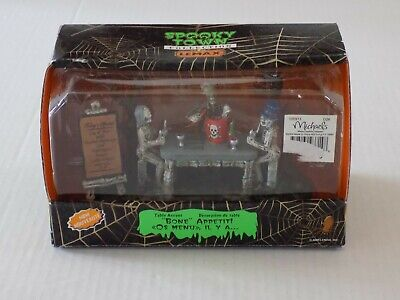Lemax Spooky Town Bone Appetit Halloween Decor Table Accent in Box Free Shipping