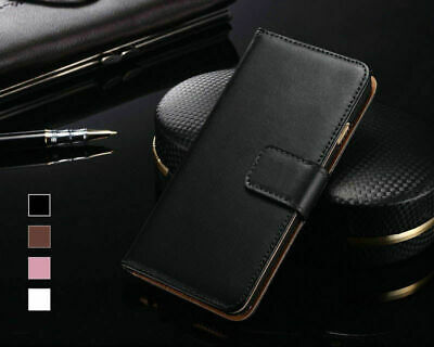 Case for iPhone 6 5s 7 Xr Xs Max 11 8 Plus Real Leather Wallet Book Flip Cover