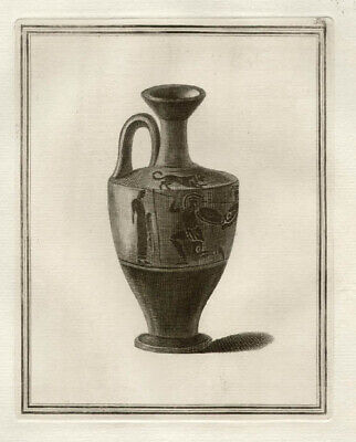 Hamilton Greek Vase - Attic black figured lekythos