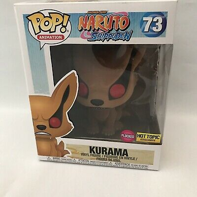 "Funko Pop #73 Naruto Shippuden Kurama Vinyl Action Figure 6"" Flocked"