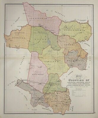 NSW - Map of the Counties of Cunningham, Ashburnham, Dowling, Gipps, forbes, ...