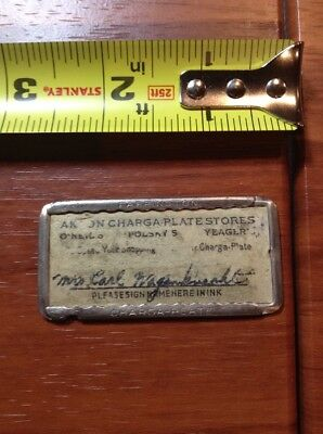 Vintage Credit Card? Akron Charge Plate Stores O'Neils Polskys Yeagler's Dept St