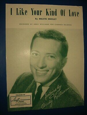 CHRISTMAS HOLIDAY Sheet Music as recorded by ANDY WILLIAMS   #336