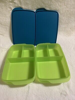 Tupperware Large Lunch-It Divided Dish Lunch Container Green