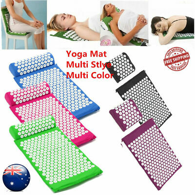 Acupressure Massage Mat+Pillow+Bag/Pain Tension Stress Relief Whole Body Massage