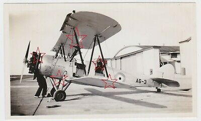 OLD photo of RAAF Avro Cadet aircraft A6-3 at Laverton airbase Australia  c1936