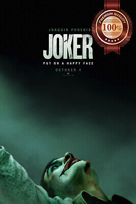 New Joker Teaser 2019 Dc Official Joaqiun  Cinema Movie Print Premium Poster
