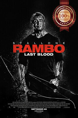 New Rambo Last Blood 2019 Official Cinema Movie Film Print Premium Poster