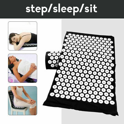 Acupressure Massage Mat+Pillow/Pain Tension Stress Relief Whole Body Massage m1