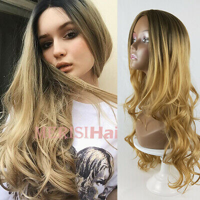 """WOMENS LONG LAYERS CURLY WAVY SKIN TOP WIG NO BANGS NATURAL CASSIE 22/"""" DELUXE"""