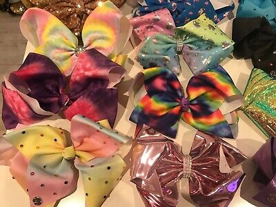 Jojo siwa Large Hair bows bundle of 22 Some Of Them Never Been Used