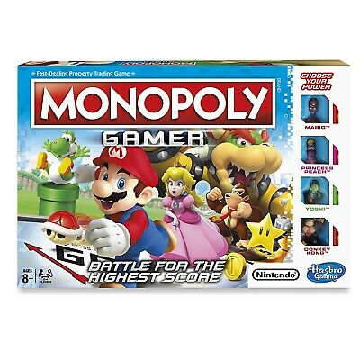 Nintendo Super Mario Gamer Edition Monopoly Board Game Brand New Gift